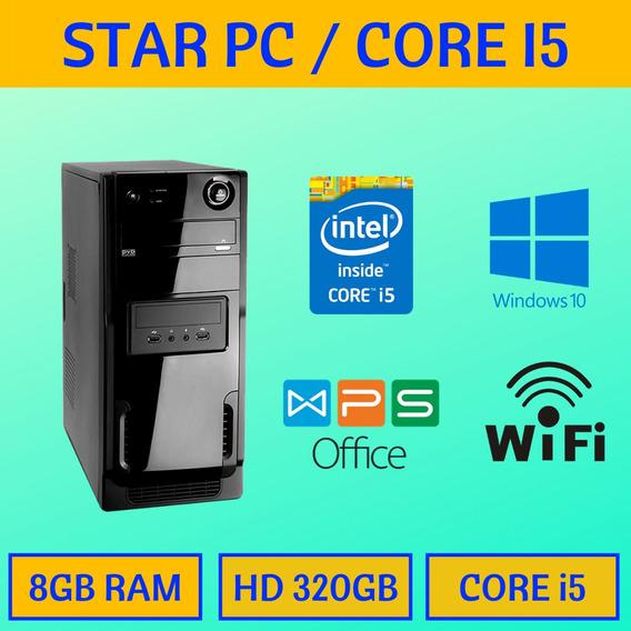 Pc Convencional Core I5 8gb Hd 320 Wifi Windows 10
