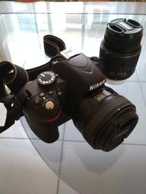 Câmera Nikon D3200 + Lente 18-55mm + Lente 50mm + 32gb