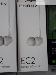 Kit 10 Fone De Ouvido Eg2 Eastgate Branco Promoção