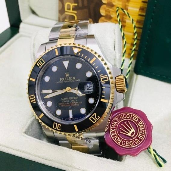 Rolex Submarinerinvicta Reserve Pulseira De Borracha Preta R