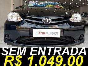 Toyota Etios Sedán X 1.5 Único Dono 2015 Preto