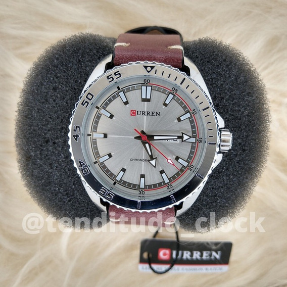 Relógio Original Curren 8272 Marrom Frete Grátis 12x S/juros