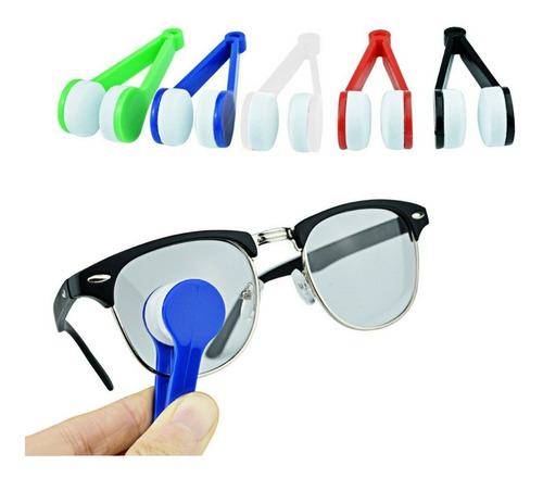 Imagen 1 de 8 de Pinza Limpiador Lentes Anteojos Gafas Microfibra X 5 Unid