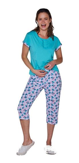 Beckil Cod 1720 Pijama Capri Algodo Pantalón Estampado