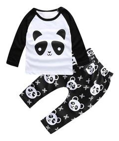Conjunto Importado Calça E Camiseta - Panda