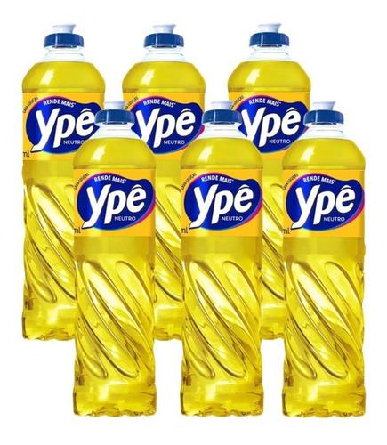 Detergente Líquido Ypê Neutro 500ml C/ 6 Unidades Promoção