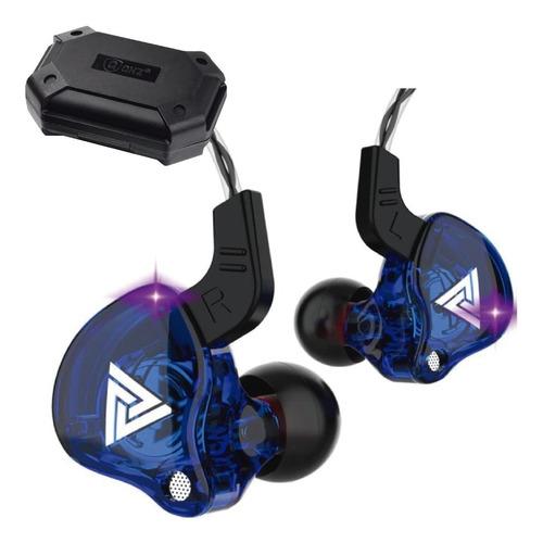 Imagen 1 de 6 de Qkz Ak6 Con Micro + Estuche Audifonos Auriculares Azul