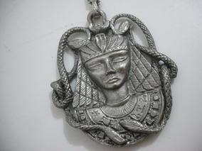 Colar Pingente Egito Em Metal Usado Bom Estado