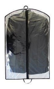 Kit 10 Capa Plastica Protetora Para Roupa Antimofo C/ Zíper