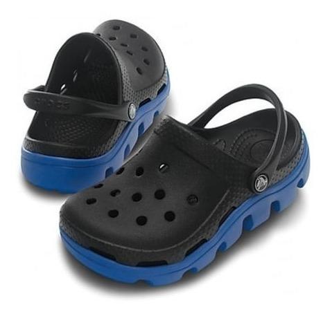 Crocs Ñiños Duet Sport Clog - Negro / Azul