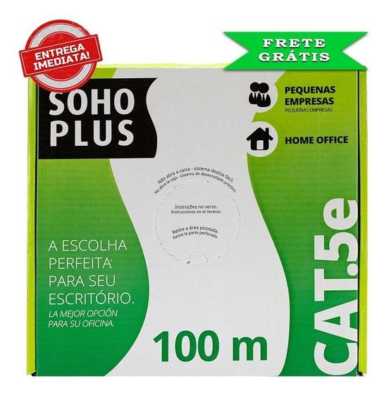 Cabo De Rede Soho Plus Furukawa Utp Cat.5e Branco Caixa C/ 100 Mts.