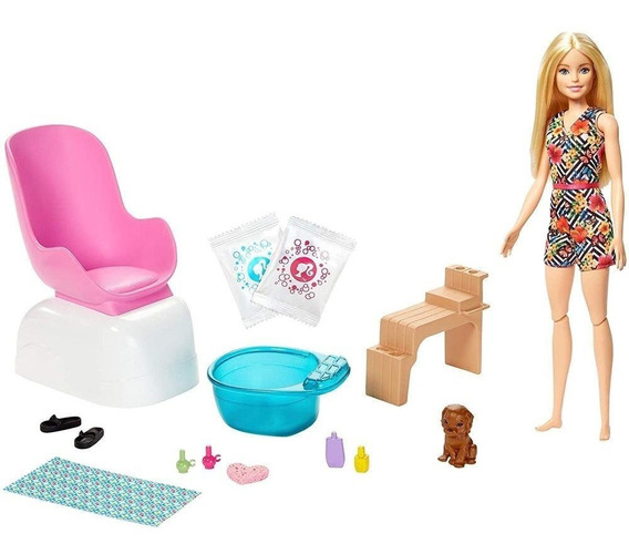 Barbie Pedi Spa Salão De Manicure E Pedicure Mattel