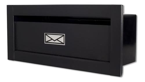 Caixa Correio Frente Branca Preta Carta Luxo Entrega Linear