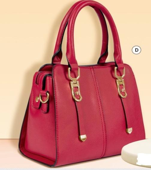 Bolsa De Dama Rojo 852-16 Cklass Dama 1-20 J