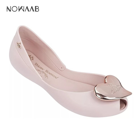 Zapatos Flats Mujer Melissa Vivienne Westwood Rosa 22.5