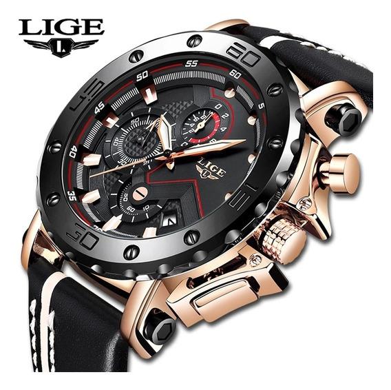 2019 Lige Nova Moda Dos Homens Relógios Marca Superior Luxo
