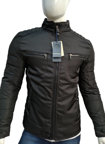 Chaqueta Chamarra Moda Premium Slim Fit Termica Tipo Biker