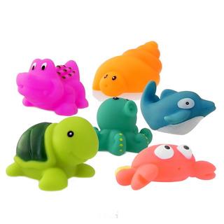 Animalitos Para El Baño Bebes 6 Piezas Original Bath Toys
