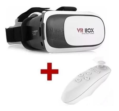 Lentes Realidad Virtual Cardboard 3d Vr Box Con Control Bt
