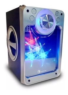 Parlante Bluetooth Portátil Radio Luces Control