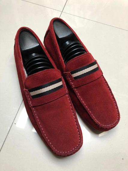 Zapatos Suizos De La Marca Bally Suede Tinto 7.5mex Cuidafos