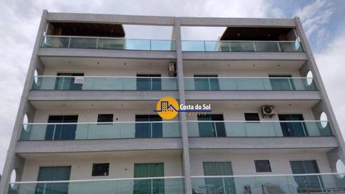 Excelente Apartamento Com 2 Dormitórios À Venda, 80 M² Por R$ 295.000,00 - Recreio - Rio Das Ostras/rj - Ap0703