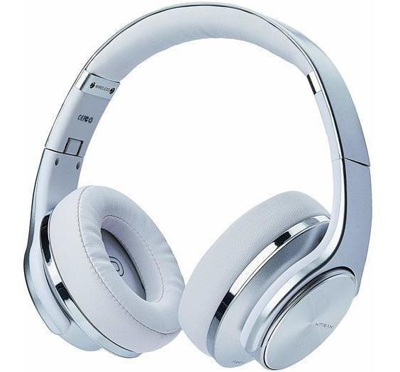 Fone De Ouvido Duo 6w Prata Xtrax Com Bluetooth