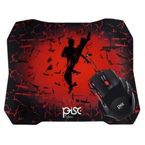 Mouse Usb Gamer Pisc + Mouse Pad Gamer 1886