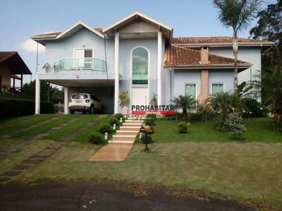 Sobrado Alto Padrão Com 4 Dormitórios À Venda, 347 M² Por R$ 1.450.000 - Lagoa Grande - Embu-guaçu/sp - So3207