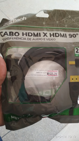 Cabo Hdmi X Hdmi 90º. 2,0 Metros