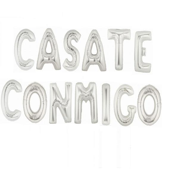 Globos Metalizados Casate Conmigo Boda Regalo Fiesta