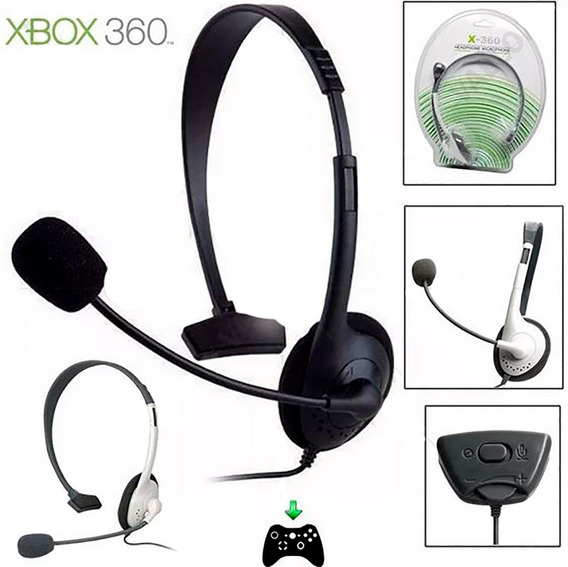 Fone Headset Headphone Com Microfone Para Xbox360 Slim