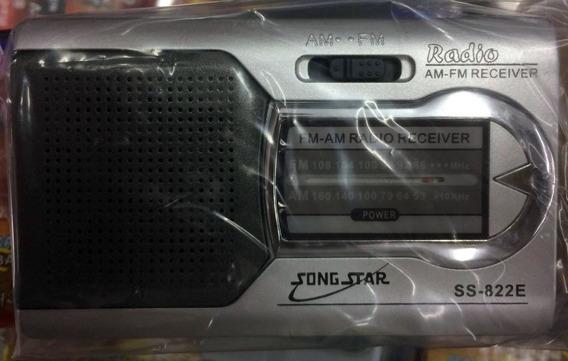 Radio Portatil Ss-822e Am Fm Ótima Sensibilidade