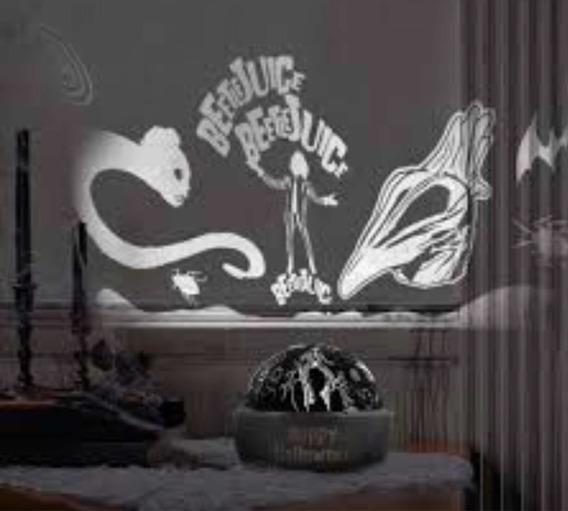 Beetlejuice Lampara Proyectora De Led Decoración Halloween