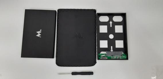 Case Para Hd Rigido Notebook Sata 2.5 Alumínio Mtek Preto