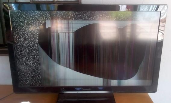 Tv Panasonic Viera Tc-l42u30b 42 Polegadas Tela Quebrada
