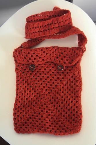 Bolso Morral Crochet Terracota