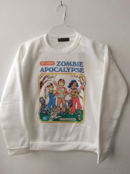 Sudadera Vintage Moda Coreana Asiatica Zombie Envío Gratis