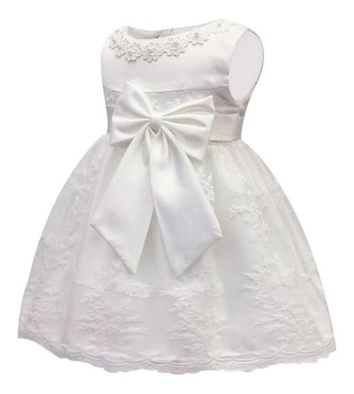 Vestido Batismo Branco Cetim E Renda Diversas Cores Tam 1 A 18 Meses Frete Grátis Pague Em 12 X Sem Juros Oferta Única