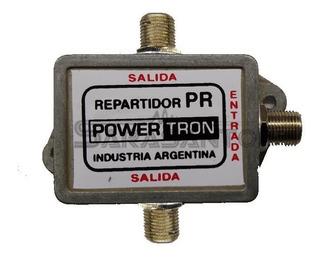 Divisor De Tv 2 Salidas Divisor Powertron 2 Salidas Tv
