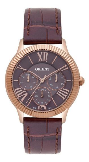 Relógio Orient Feminino Pulseira Marrom Frscm008 M3mx