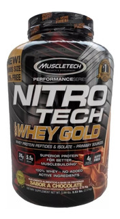Proteina Mt Nitrotech Whey Gold 5.5 Lbs Todos Los Sabores!
