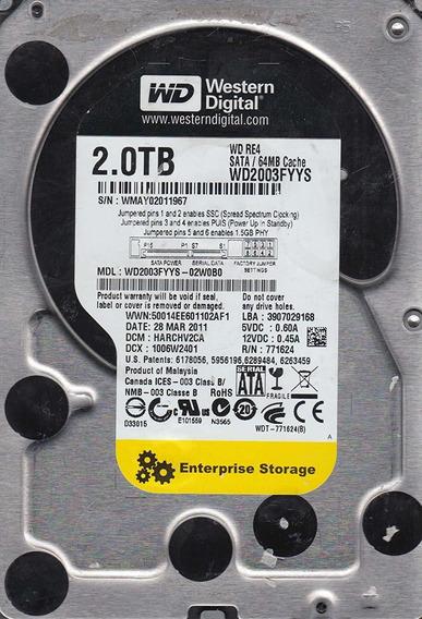 Lacrado Hd 2tb Enterprise Wd2003fyys 7200 Rpm 2 Tb Sata Hp