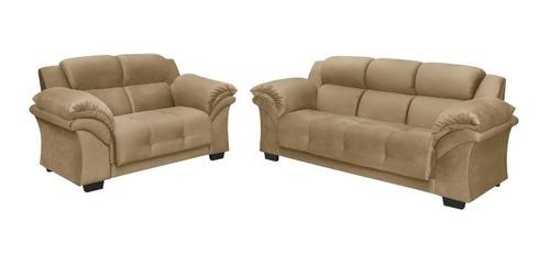 Juego De Living Sillon 3+2 Cuerpos Sofa Oxford Beige