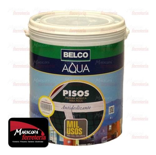 Aqua Pisos Pintura Belco 4 Litros Todos Los Colores Mil Usos