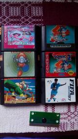 Lote De Jogos De Mega Drive Sonic Virtua Fighter E Mais