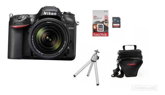 Câmera Nikon D7200 18-140mm+32gb+bolsa+tripé