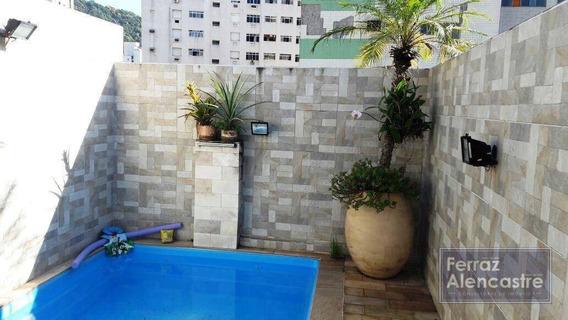 Casa Com 3 Dormitórios À Venda, 255 M² Por R$ 730.000,00 - Marapé - Santos/sp - Ca0017