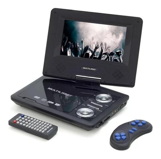 Dvd Player Portátil 7 Pol Tela Rotativa 270 Usb/sd/aux Au710