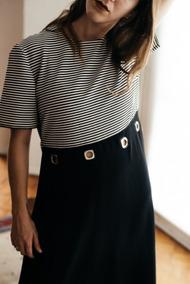 Vestido Vintage De Rayas (b&w)